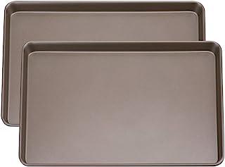 مجموعه ای از ورق کیک 2 ورقه ای ، ورقه کوکی غیر لایه ای لایه های آسان ، سینی پخت 11.8 x 17.5 اینچ