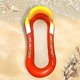 Derbeisy Flotador flotador gigante para playa, balsa flotante, tumbona inflable para adultos, juguete de fiesta (azul) (color: rojo)