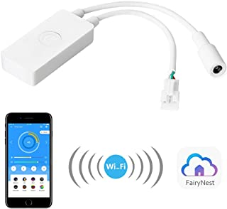 ALITOVE WS2812B WS2811 Smart WiFi APP Controller, Support Amazon Alexa Voice Control, for DC5V~24V 3 pin WS2812 SK6812 Addressable RGB Dream Color LED Strip Pixel Light (Support 2.4G WiFi, not 5G)