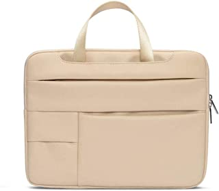 Shhshop PU Notebook Sleeve 13.3 Inches Business Briefcase Bag Waterproof and Shockproof (Color : Beige)