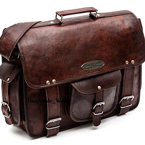 6b9a933bee4e Amazon.com  Handmade world Leather Messenger Bags for Men Women 18
