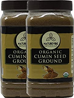 Naturevibe Botanicals Organic Cumin Seed Powder 2lbs (2 Unit of 1lbs Each) Cuminum cyminum L. | Raw, Gluten-Free & Non-GMO | Adds Flavor and Taste