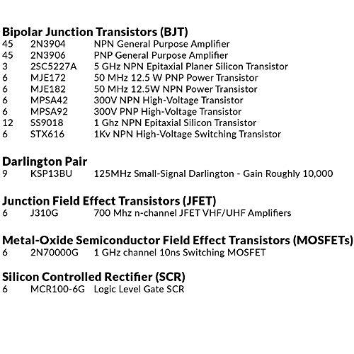 Joe Knows Electronics Semiconductor Kit (320 Transistors & Diodes)