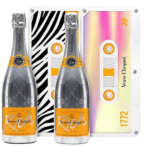 """Champagne Veuve Clicquot - Rich Brut*2 - Sous 2 caissettes Edition limitée""""Tape"""""""