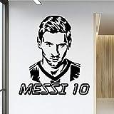 Jugador de fútbol Messi 10, vinilos decorativos, vinilos decorativos, vinilos decorativos para niños, pósters de papel pintado de fútbol Barcelona Fc 58 cm x 65 cm