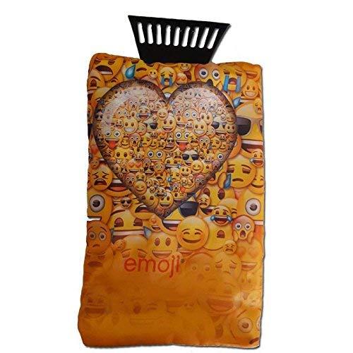 Auto ijskrabber ijskrabber emoji geel bont hart met handschoen met fleece nieuw