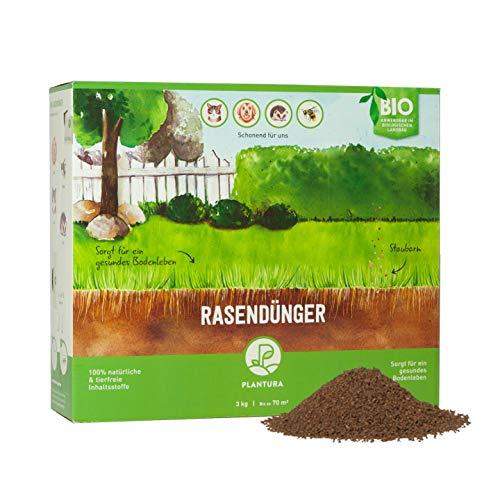 Plantura Bio-Rasendünger mit 3 Monate Langzeit-Wirkung, 3 kg, ideal im Frühjahr und Sommer, Dünger gegen Moos, staubarmes Granulat, unbedenklich für Haustiere