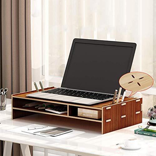 Riser Laptopstandaard voor desktop-organizer, multifunctioneel, PC scherm, ruimtebesparend, 2 niveaus, riser standaard voor laptop Office-c 3