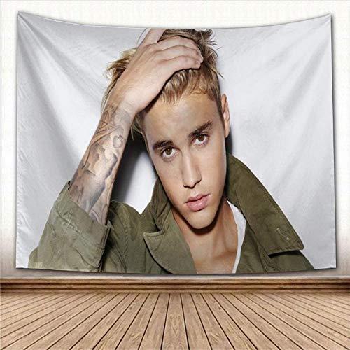 Tapiz de Justin Bieber tapices para colgar en la pared, casa de campo, fiesta, cubierta de pared, decoración, dormitorio universitario, alfombra de pared 150x100cm