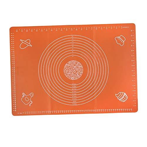 petsola Silikon Kochmatte Antihaft Backofen Backblech Pfanne Kochgeschirr DIY 64x45cm - Orange