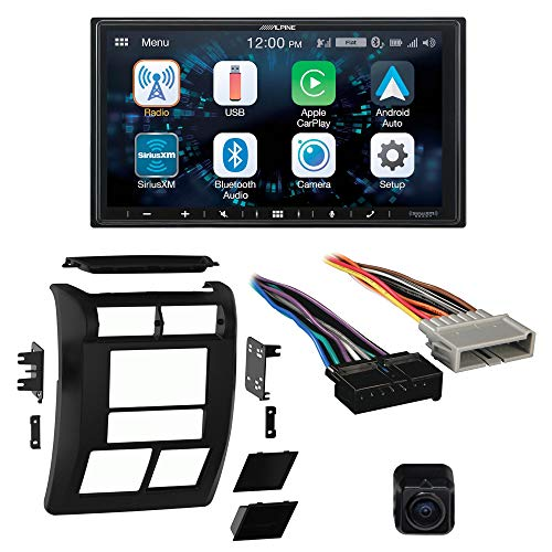 Alpine Bundle ILX-W650 Multimedia Receiver with Dash Kit, Wiring Harness, and B/U Camera, Compatible with Wrangler, 97-02