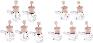chiwanji Mini Glasflaschen, Lufterfrischer, Medaillon, Auto Diffusor, Luft Clip, Aromatherapie, ätherisches Öl, Auto Diffusor, 10 Stück