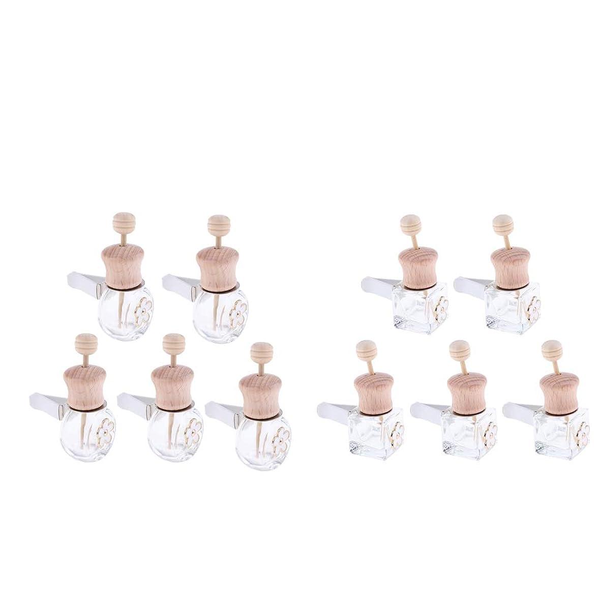 均等にスキッパーナプキンSM SunniMix 車 香水ボトル 詰め替え式 ディフューザー 8ml+6ml 装飾 雰囲気 作り出す 10個入