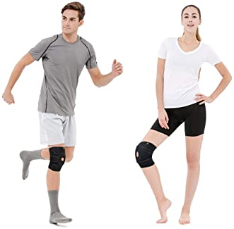 Bracoo Adjustable Compression Knee Support Brace for Men Women - Arthritis Pain, Injury Recovery, Running, Workout, K...