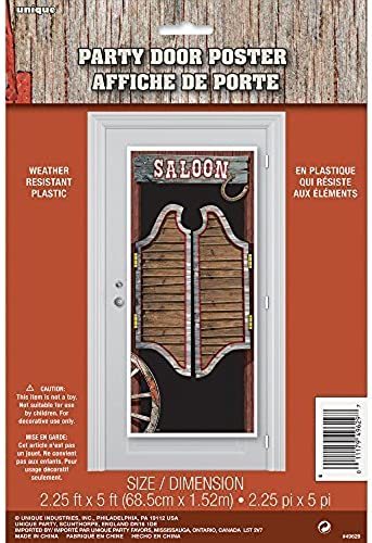 Plastic Rodeo Western Door Poster, 5ft x 2.5ft by Unique Party