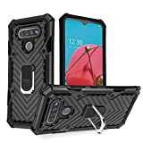 LG K51 Case | Kickstand | [ Military Grade ] 15ft. SGS Anti Drop Tested Protective Case | Compatible for LG K51-Black