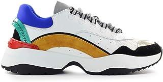 DSQUARED2 Luxury Fashion Uomo SNM013201502113M1346 Bianco Pelle Sneakers   Autunno-Inverno 20