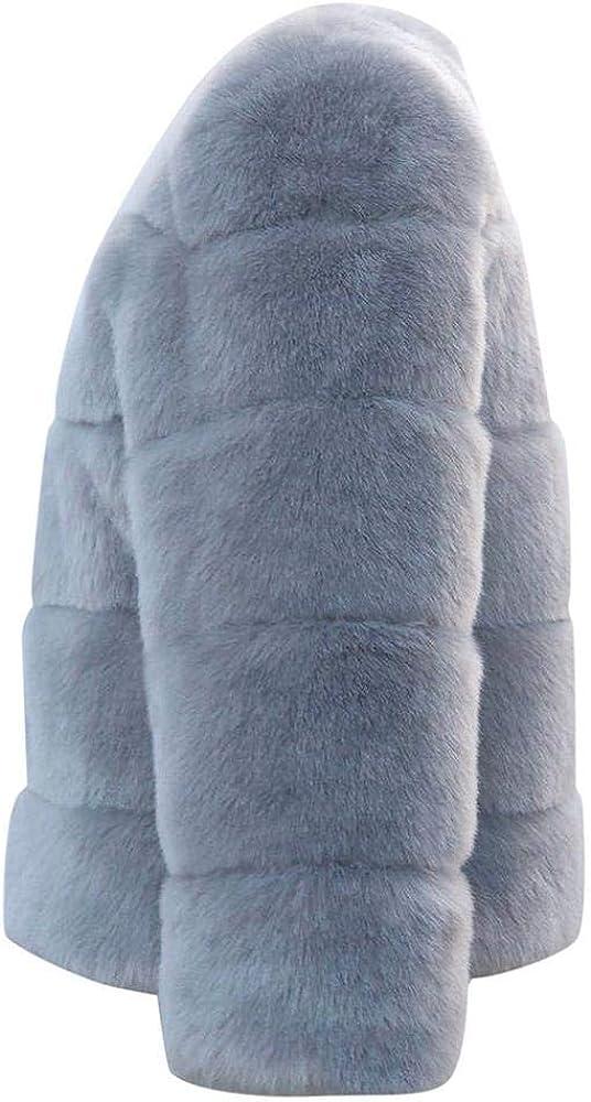 HGWXX7 Women's Winter Warm Faux Fur Coat Hooded Thick Outerwear Jacket Plus Size Parke Overcoat