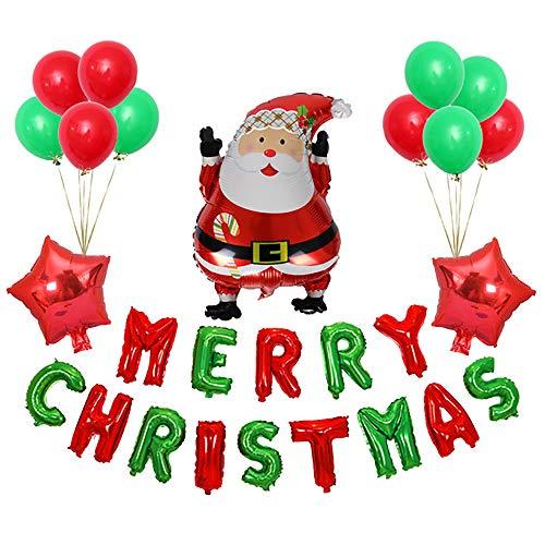 Kerstballon Set Kerstmis utenciles Decoratieve Aluminium Ballon Kerstman Kerstboom Decoratie Figure 2