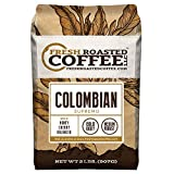 Fresh Roasted Coffee LLC, Colombian Supremo Coffee, Medium Roast, Whole Bean, 2 Pound Bag