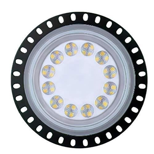 OMMO LEBEINDR UFO LED High Bay Licht 50W 50000LM 6000K-6500K Kalt Weiß Wasserdicht Ultra Thin LED-Lager-Beleuchtung Kommerzielle Bucht-Beleuchtung für Garage Fitness Shop-Workshopfor Convenience