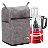 kitchen aid food processors cover - HOMEST Food Processor Dust Cover with Accessory Pockets Compatible with KitchenAid 7-11 Cup, Grey (Dust Cover Only, Patent Pending)