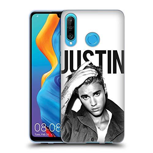 Head Case Designs Offizielle Justin Bieber Kalender Schwarz Und Weiss Purpose Soft Gel Huelle kompatibel mit Huawei P30 Lite