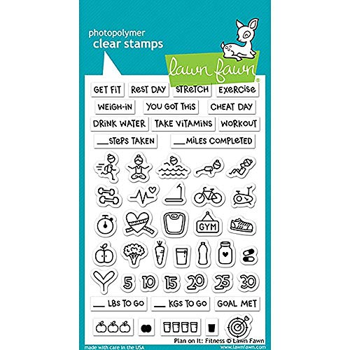 Lawn Fawn Clear Stamps - Plan On It: Fitness (LF1483)