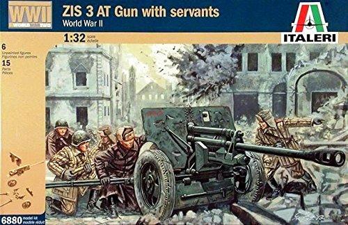 Italeri 6880S - Segundo La Primera Guerra Mundial los Soldados rusos y Armas ZIS3