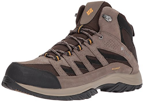 Columbia Men's Crestwood Mid Waterproof Hiking Boot, Breathable, High-Traction Grip, 11 Regular US, cordovan, squash