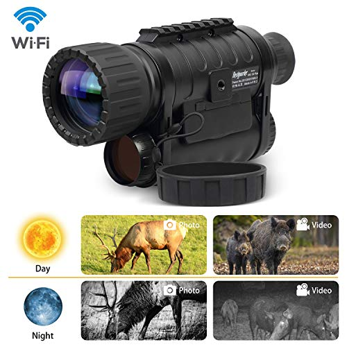 Infrared HD Night Vision Monocular with WiFi,Bestguarder WG-50 Plus,6-30X50MM Smart Digital Hunting...