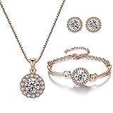 YooAi Jewellery Set Round Pendan...