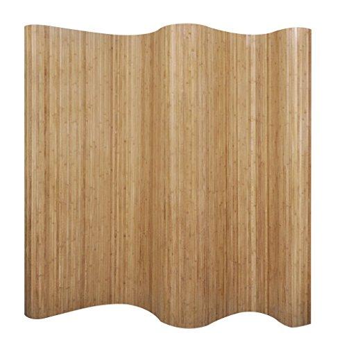 Festnight Raumteiler Trennwand aus Bambus 250 x 200 cm Natürlich