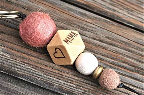 Schlüsselanhänger/verschiedene Motive möglich (z.B. Herz, Anker, Babyfüße, Stern, uva.), Wörter/Namen möglich/beste MAMA best MUM