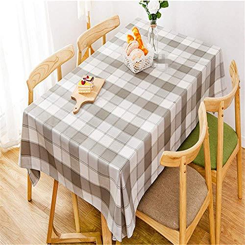 XYAZ Nordic Fabric Plaid wasserdicht und ölbeständig Tischdecke Kaffeetischdecke Tischdecke Literarische rechteckige Schreibtisch Baumwolle und Leinen Haushalt,Grau,130 * 200 cm