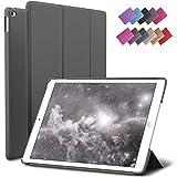 ROARTZ iPad Mini 4 case, Gray Slim Fit Smart Rubber Coated Folio Case Hard Cover Light-Weight Auto Wake/Sleep for Apple iPad Mini 4th Generation Model A1538/A1550 Retina Display