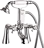 <span class='highlight'>Vee<span class='highlight'>Bath</span></span> Richmond Traditional Monobloc Crosshead <span class='highlight'>Bath</span> <span class='highlight'>Shower</span> Mixer Tap Brass <span class='highlight'>Bath</span>room Tub Filler Faucet with <span class='highlight'>Shower</span> Head - Chrome