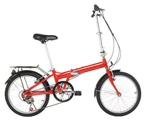 Vilano 20' Lightweight Aluminum Folding Bike Foldable Bicycle, Rack and Fenders