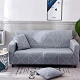 WXQY Funda de sofá elástica para Sala de Estar, Todo Incluido, Antideslizante y a Prueba de Polvo, Funda de sofá en Forma de L, Funda de sofá de Esquina A18, 2 plazas