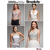 SIMPLICITY S8869 - Cartamodello per top da donna, in carta, bianco, vari