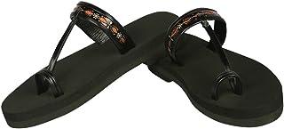 Panlin Orthopaedic & Diabetic Footwear : Slipper For Ladies (Leather & MCP):L1-BL-9