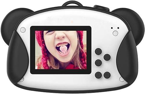 HWUKONG Kinder Digitalkamera, Anti-Fall, Cartoon-Aufkleber, HD 8 Millionen Pixel Jungen und mädchen, schwarz