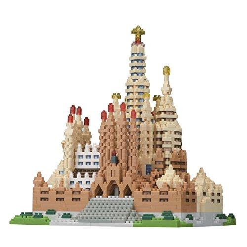 nanoblock Sagrada Familia NB-028 - Puzle 3D (2660 Piezas, Nivel de dificultad 5, para Expertos) (Juguete)
