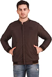 Kiba Retail Men Winter Lightweight Polyester Full Sleeves Jacket_Brown