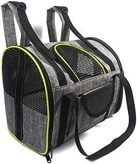 MAOSHE Pet Bag, Breathable Pet Dog Cat Backpack Pet Carrier Bag Folding Bag Dog Out Cat Out Bag Portable Shoulder Bag Pet ...