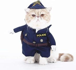 perros para gatos negro XS de verano cachorros Camiseta para mascota RUNGAO POLICE
