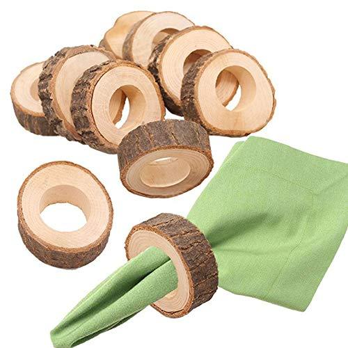 Guanici 16 Piezas Servilletero de Madera servilleteros de Madera rústica para manualidades y manualidades rústico vintage para decoración de bodas fiestas y mesas