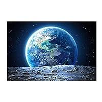 Xykshiyyギャラクシースター宇宙飛行士惑星穴スペースキャンバス絵画宇宙地球隕石ポスターとプリント壁アート写真装飾用/ 60x150cm(フレームなし)
