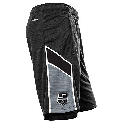 Levelwear LEY9R NHL Nashville Predators Adult Men Swift Icon Heather Athletic Shorts, Large, Navy/White