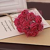 surfsexy 144 unidades por paquete mini espuma artificial ramo de flores de rosas para decoración de boda suministros de manualidades